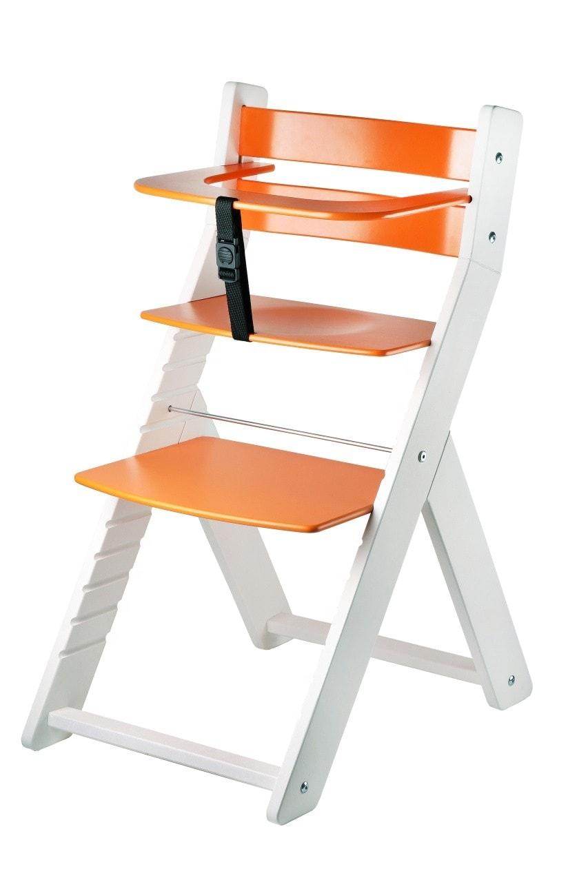 Wood Partner Rostoucí židle Luca - bílá / oranžová