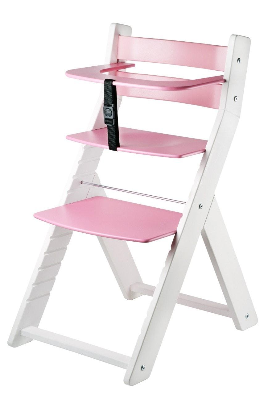 Wood Partner Rostoucí židle Luca - bílá / růžová