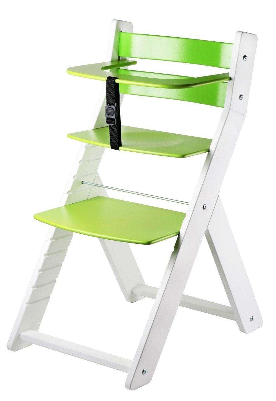Wood Partner Rostoucí židle Luca - bílá / zelená