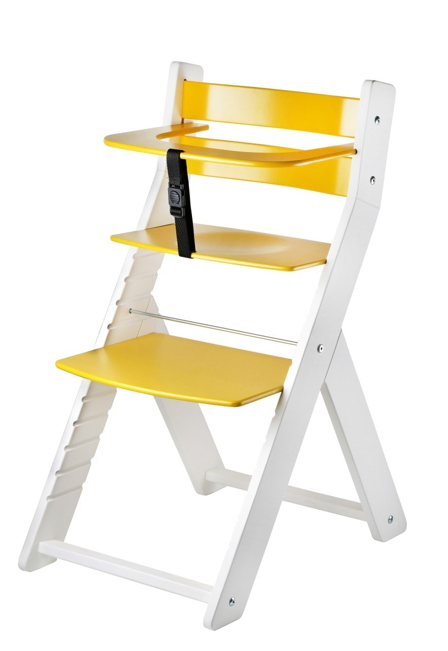 Wood Partner Rostoucí židle Luca - bílá / žlutá