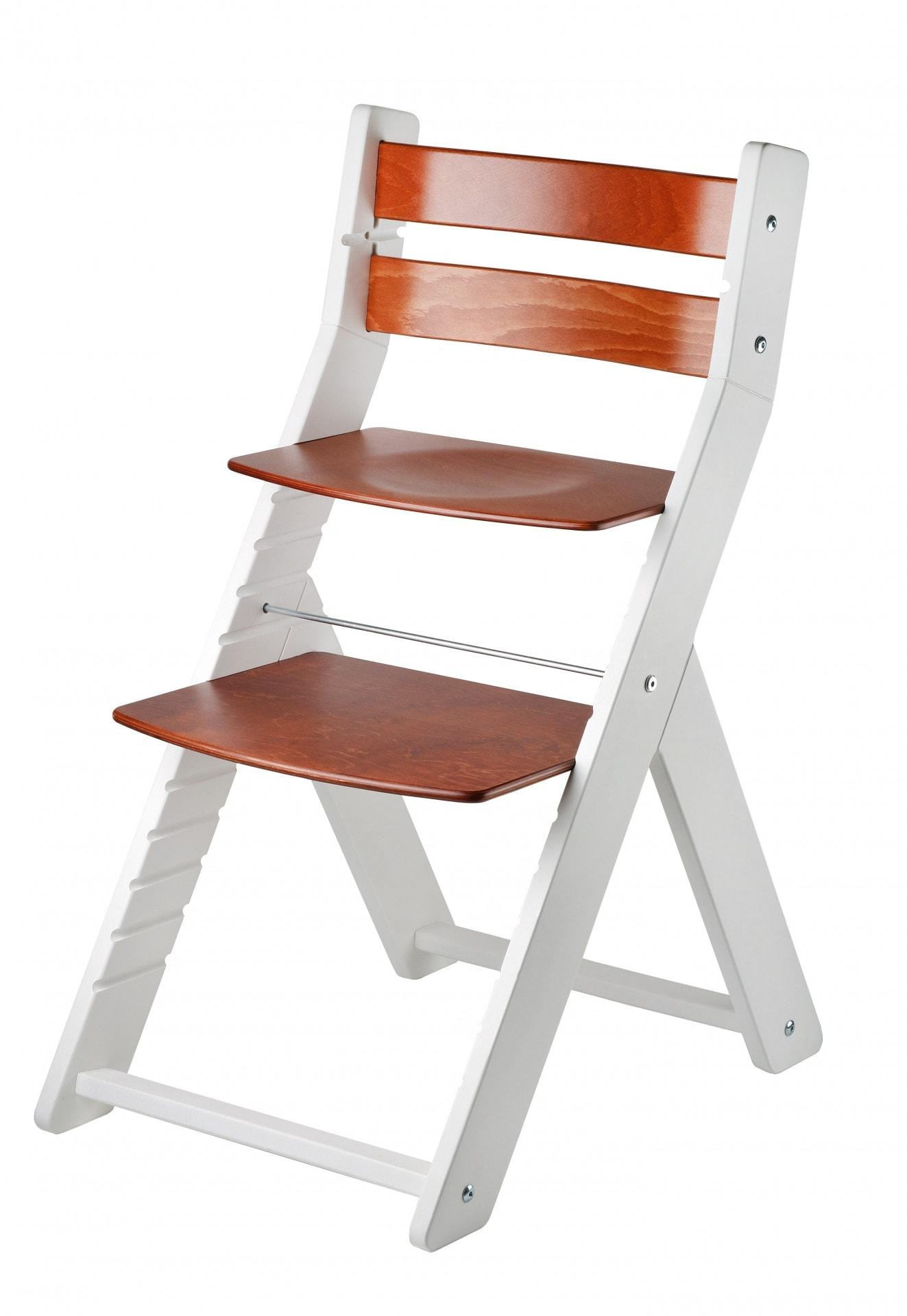 Wood Partner Rostoucí židle Sandy - bílá / mahagon