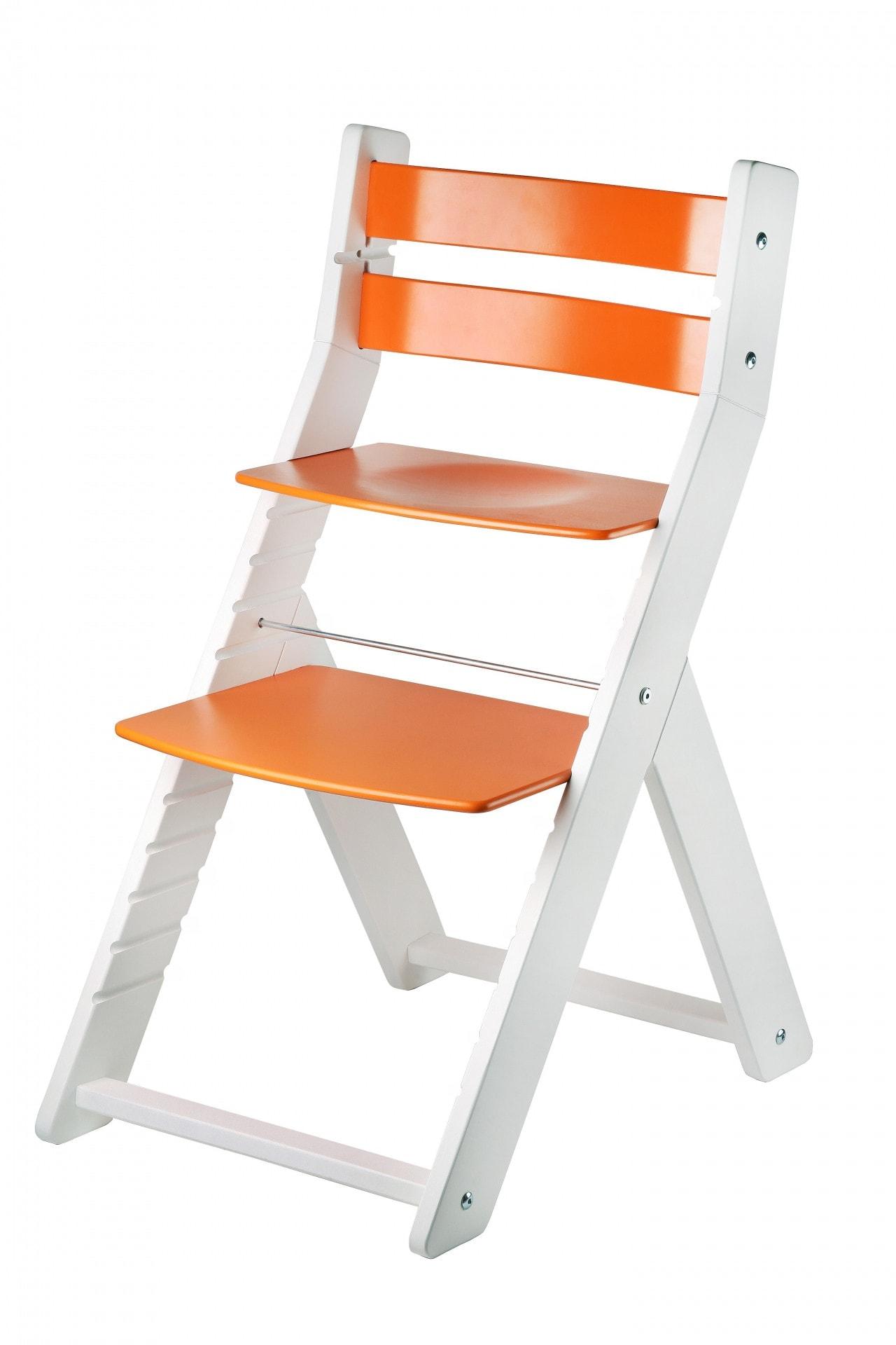 Wood Partner Rostoucí židle Sandy - bílá / oranžová