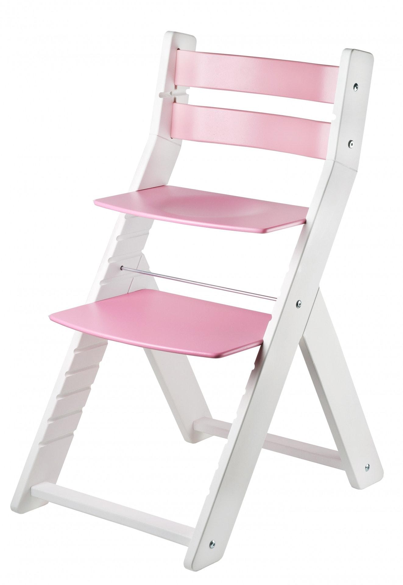 Wood Partner Rostoucí židle Sandy - bílá / růžová