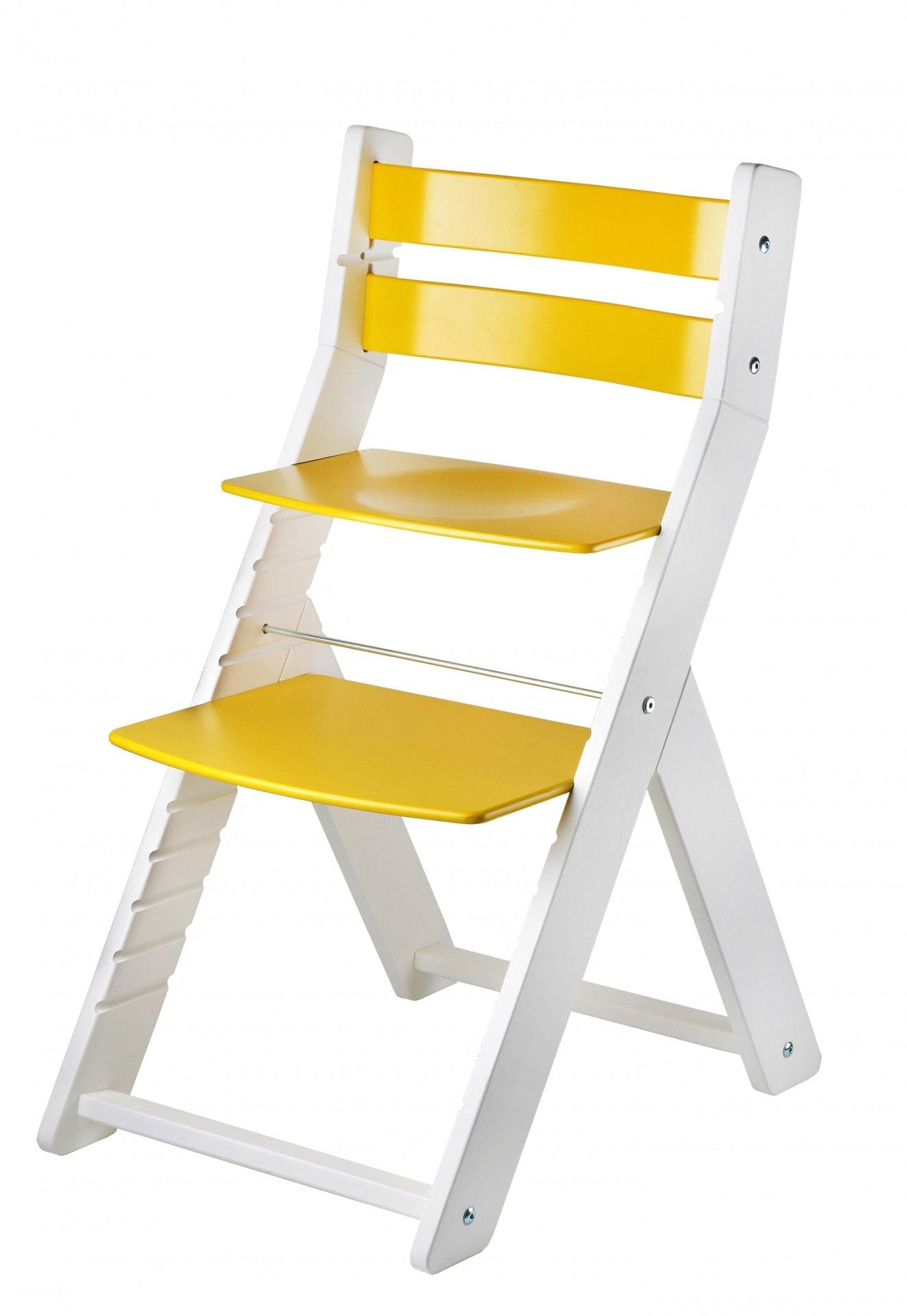 Wood Partner Rostoucí židle Sandy - bílá / žlutá