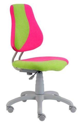 Židle Fuxo růžová / zelená