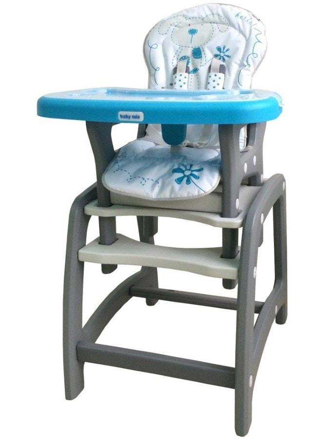Jídelní židlička Baby Mix 2v1 modrá