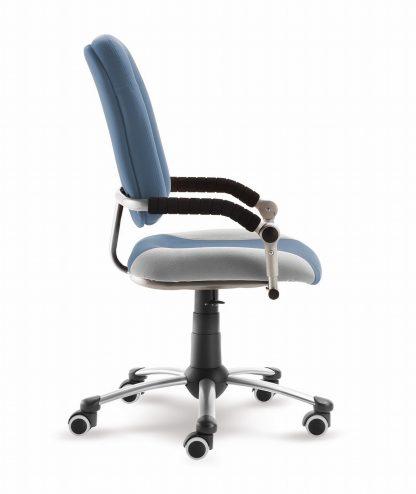 Rostoucí židle Freaky Sport - modršedá / šedá - aquaclean z boku