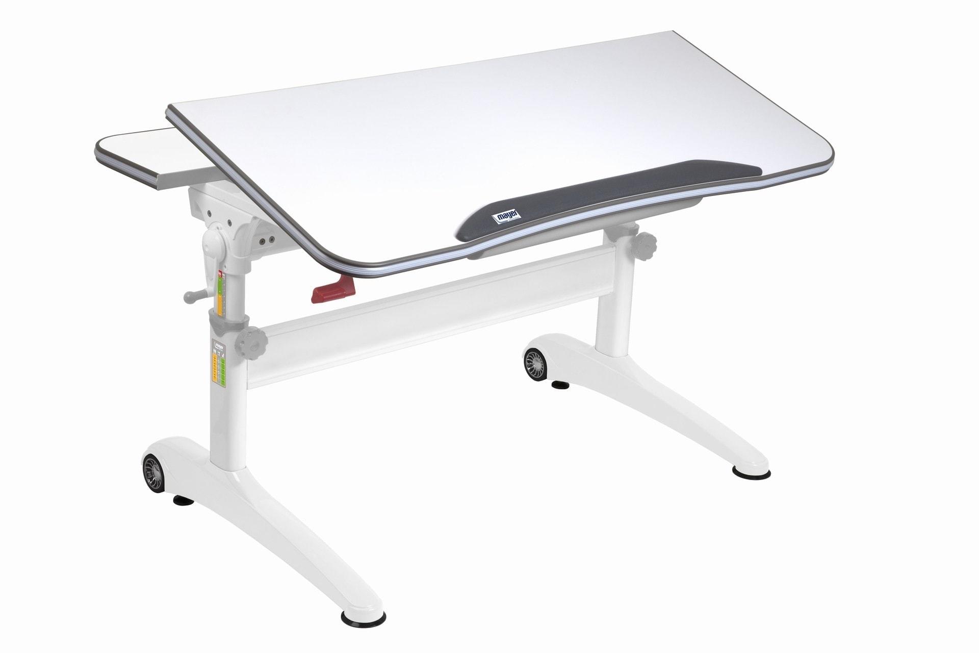 Rostoucí stůl Mayer Racing bílý