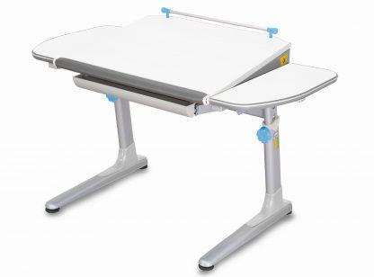 Rostoucí stůl Profi 3 5v1 bílý / stříbrný s modrými prvky