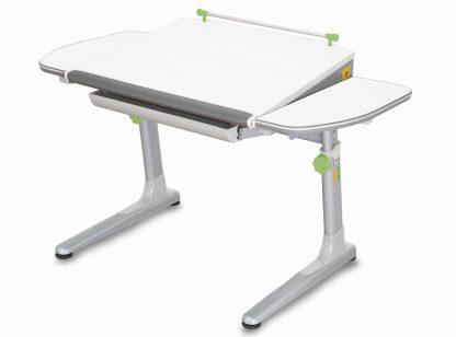 Rostoucí stůl Profi 3 5v1 bílý / stříbrný se zelenými prvky