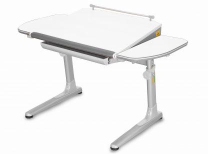Rostoucí stůl Profi 3 5v1 bílý / stříbrný s šedými prvky