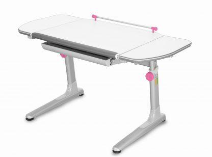 Rostoucí stůl Profi 3 5v1 bílý / stříbrný s růžovými prvky
