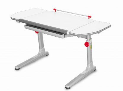 Rostoucí stůl Profi 3 5v1 bílý / stříbrný s červenými prvky