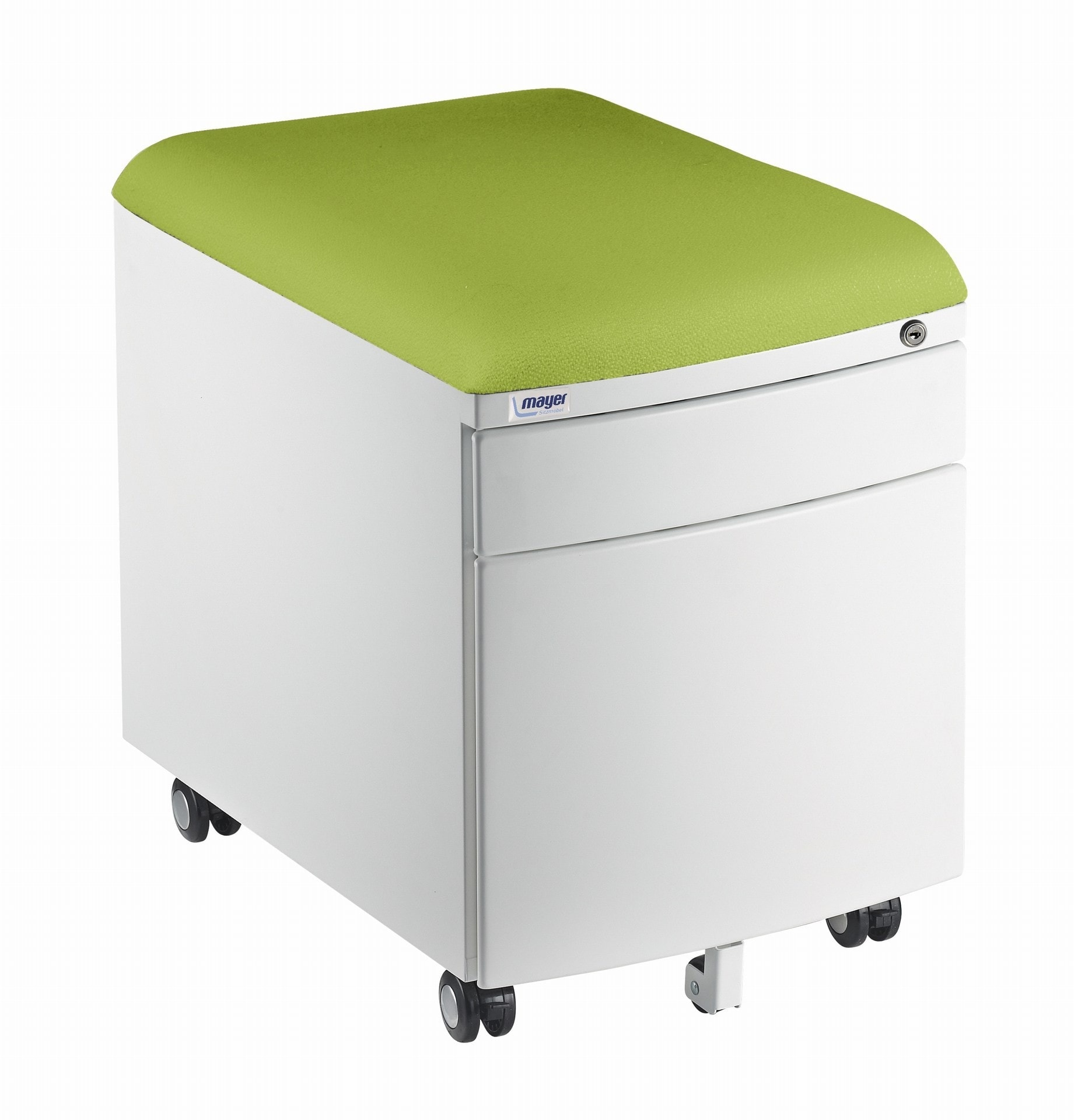 Kontejner Mayer bílý, potah zelený aquaclean
