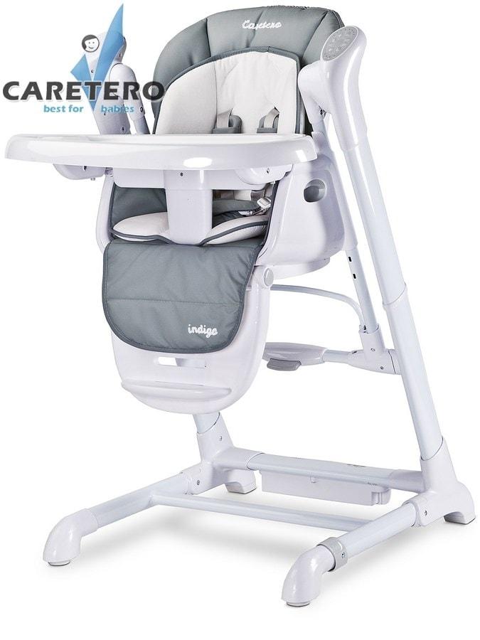 Dětská jídelní židlička 2v1 Caretero Indigo grey