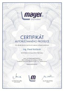 Certifikát Mayer
