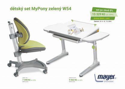 Dětský set zelený MyPony - Profi bílý