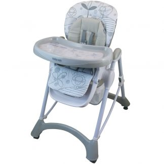 Jídelní židlička Baby Mix light grey