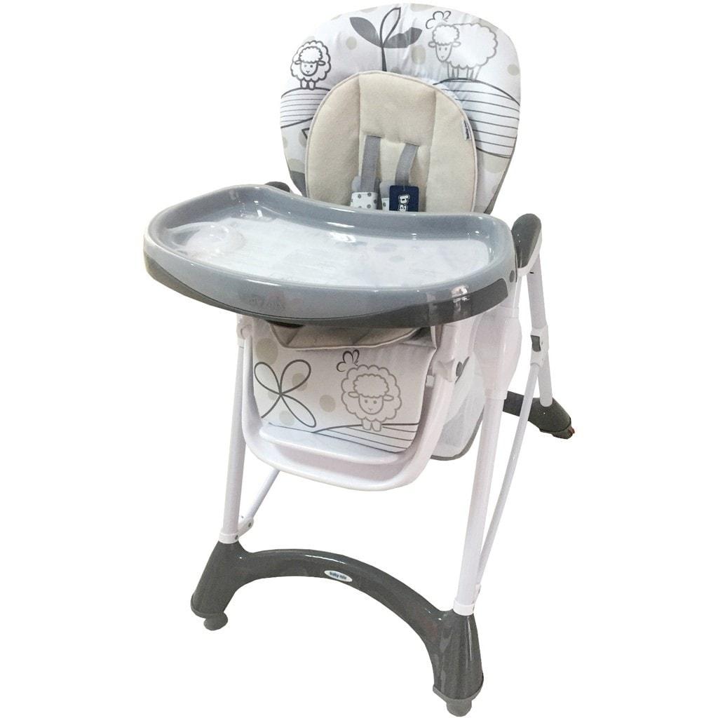 Jídelní židlička Baby Mix dark grey