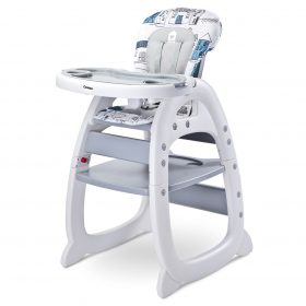 Jídelní židlička CARETERO HOMEE grey