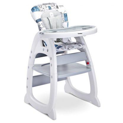 Jídelní židlička CARETERO HOMEE grey - detail 1