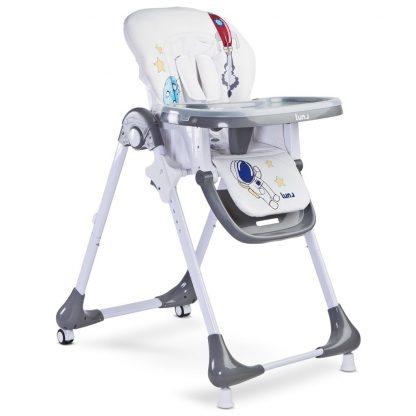 Jídelní židlička CARETERO Luna grey - detail 2