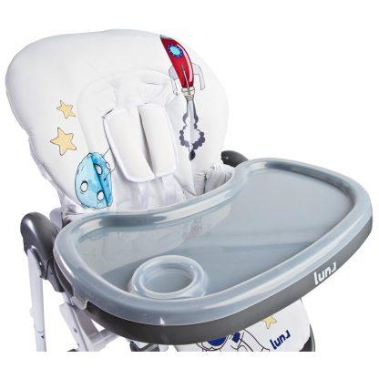 Jídelní židlička CARETERO Luna grey - detail 5