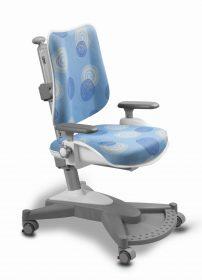 Rostoucí židle MyChamp modrá s kruhy