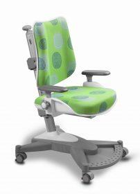 Rostoucí židle MyChamp - zelená s kruhy