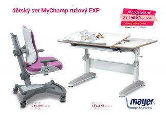 Mayer Set stůl Expert + MyChamp růžová