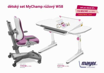 Mayer Set stůl Profi + MyChamp růžová