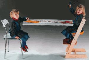 Porovnání sezení na normální a rostoucí židli