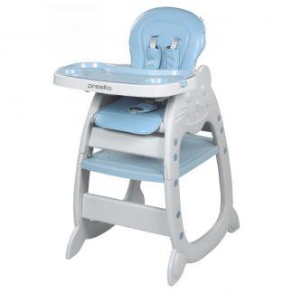 Jídelní židlička Baby Mix Presito 2v1 modrá