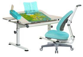 Set rostoucí stůl Žolík a židle Klára tyrkys