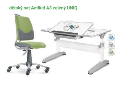 Set rostoucí stůl Uniq + zelený Actikid A3