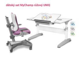 Set rostoucí stůl Uniq + židle růžová MyChamp