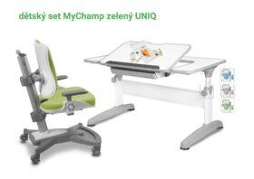 Set rostoucí stůl Uniq + židle zelená MyChamp
